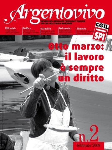 Argentovivo - febbraio 2009 - Spi-Cgil Emilia-Romagna