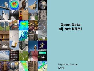 Open Data bij het KNMI