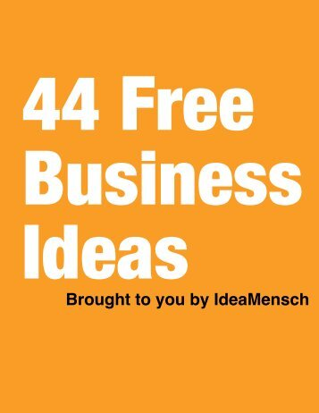 44 Free Business Ideas