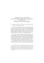 Costruzione di un corpo di fonti per la - Istituto storico italiano per il ...