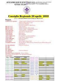 Verbale Consiglio Regionale 10 aprile 2011 - Agesci Liguria