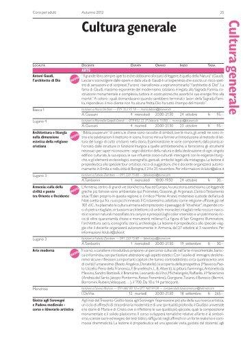 Cultura generale Cultura generale - Repubblica e Cantone Ticino