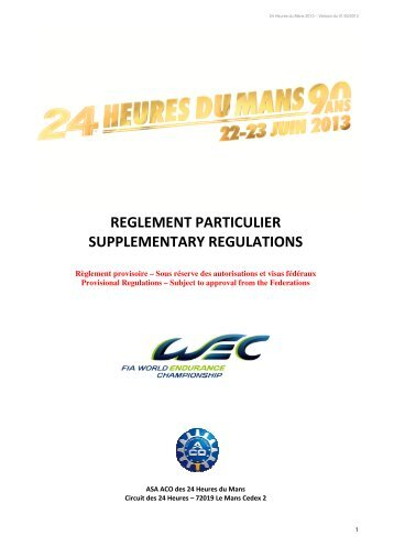 2013-24-heures-du-mans-supplementary-regulations