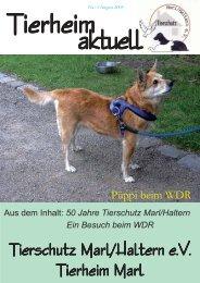 Tierheim aktuell Nr. 1 vom August 2005 - Tierschutzverein Marl ...
