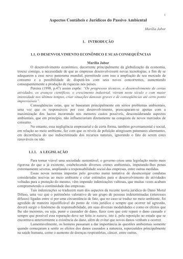 Aspectos Contábeis e Jurídicos do Passivo Ambiental - Instituto Ethos