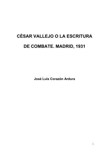 césar vallejo o la escritura de combate. madrid, 1931 - Blog PUCP