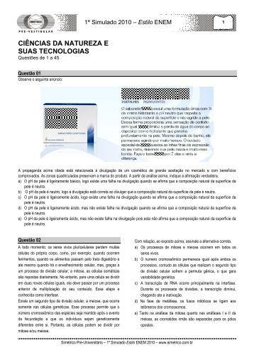 Estilo ENEM - Projeto Medicina
