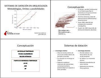 Conceptuación Conceptuación Sistemas de datación - RUA