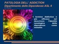 Patologia dell'Addiction - Formazione Casentino