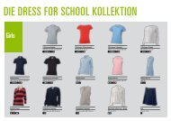 Gesamt- kollektion - DRESS for SCHOOL