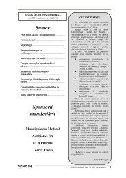 Sumar Sponsorii manifestării - Medicina Modernă