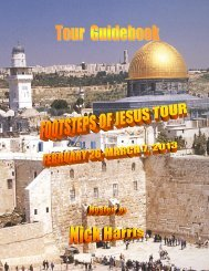 Download the 2013 Israel Tour Guidebook. - Ariel Ministries