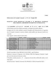 Comune di Zola Predosa Deliberazione del Consiglio Comunale n ...