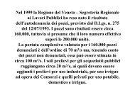 Nel 1999 la Regione del Veneto - Botti Elio Perforazioni