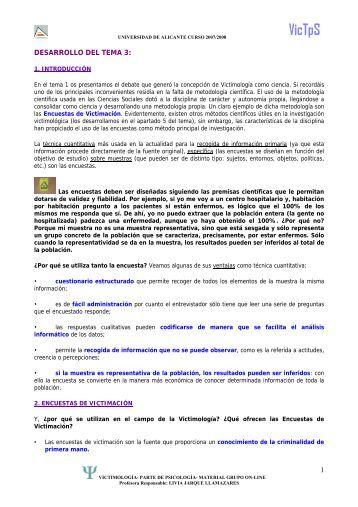 Tema 3. La victimación en cifras - RUA - Universidad de Alicante