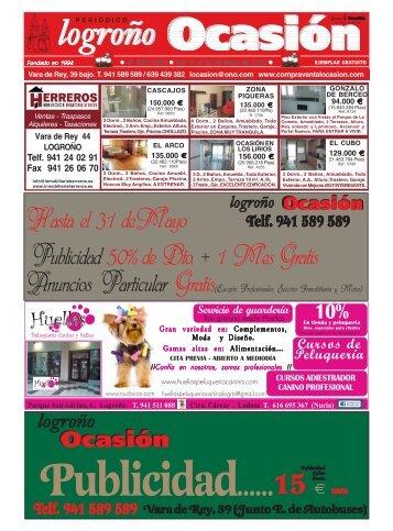 nº 1007-1008 del 15 al 28 de Mayo de 2013 - Periódico Logroño ...