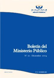 Boletin Ministerio Publico - Ministerio Público
