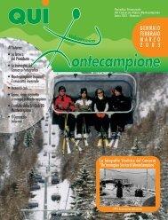 qui montecampione n° 1 gennaio-febbraio-marzo 2003