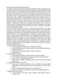 RIASSUNTO TESI DI DIPLOMA STAUB, 2008 - Bio Suisse