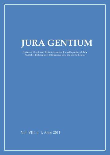 Volume VIII, 2011, 1 - Jura Gentium