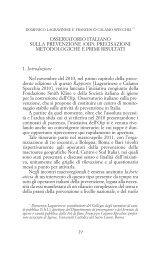 Osservatorio italiano sulla prevenzione (OIP): precisazioni ...