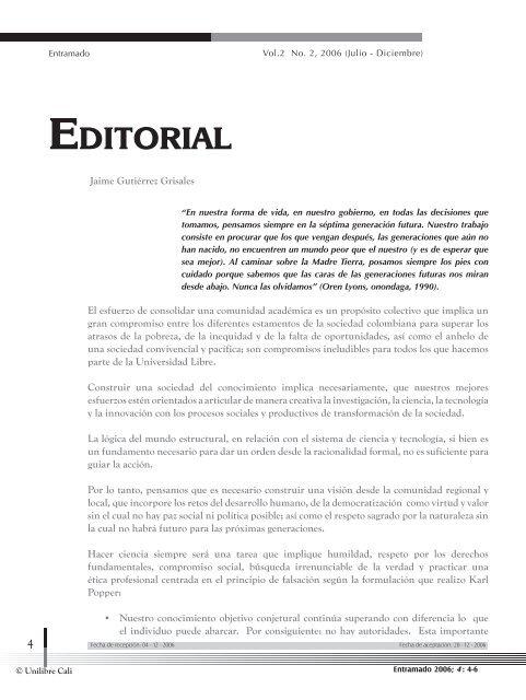 Editorial - Universidad Libre