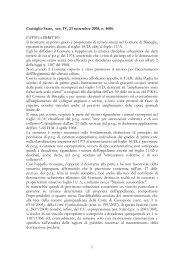 Consiglio Stato, sez. IV, 23 settembre 2008, n. 4606, FATTO e ...