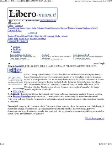 Modulo raccolta firme comitati cittadini for Largo somalia