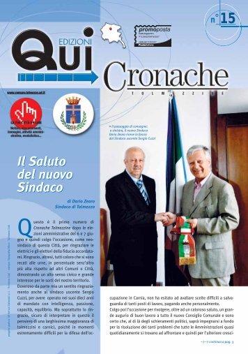 Cronache tolmezzine 15.pdf - Comune di Tolmezzo