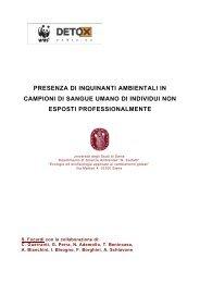 PRESENZA DI INQUINANTI AMBIENTALI IN CAMPIONI ... - WWF Italia