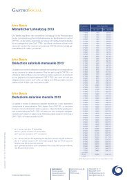 Uno Basis Monatlicher Lohnabzug 2013 Uno Basis ... - GastroSocial