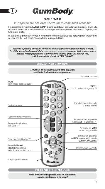 Istr GUMBODY Facile SMART - MELICONI