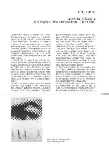 La svolta degli anni 60: Il felice epilogo del - Comune di Livorno