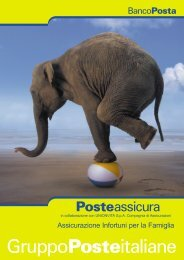 POSTEASSICURA INFORTUNI - ed. gennaio 2004 - Poste Vita