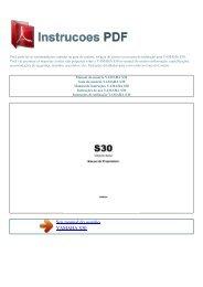 Manual do usuário YAMAHA S30 - INSTRUCOES PDF