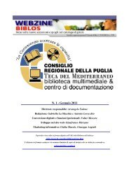 N. 1 - Gennaio 2011 - Biblioteca del Consiglio Regionale della Puglia
