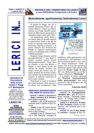 luglio 2011 / anno 4 - Comune di Lerici