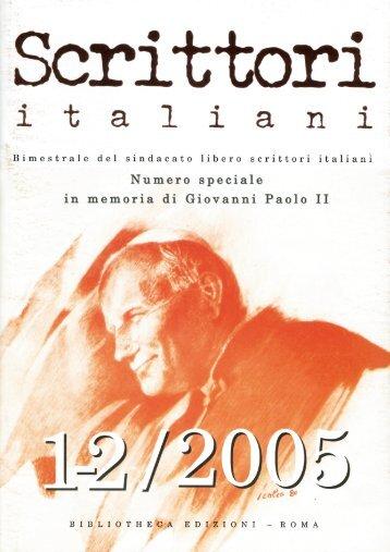 rivista 1-2-2005 - Sindacato Libero Scrittori Italiani