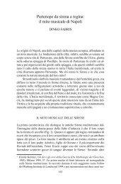 Partenope da sirena a regina: il mito musicale di Napoli