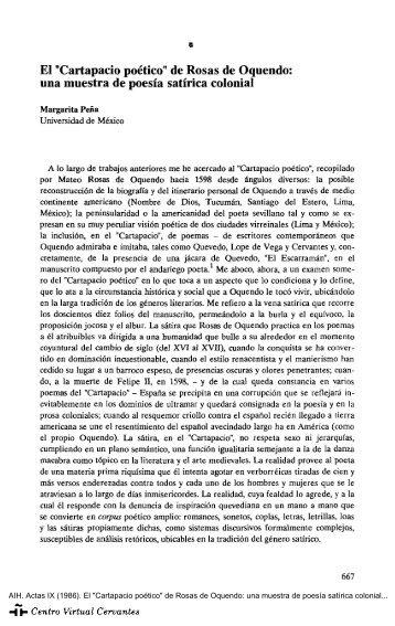 """Actas IX. AIH. El """"Cartapacio poético"""" de Rosas de Oquendo: una ..."""