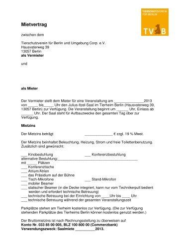 Mietvertrag Vorlage - Seeclub Sempach