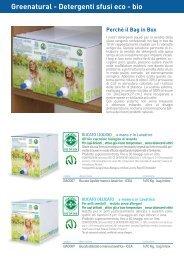 Scheda dettagliata detergenti CASA sfusi. - biologico sfuso