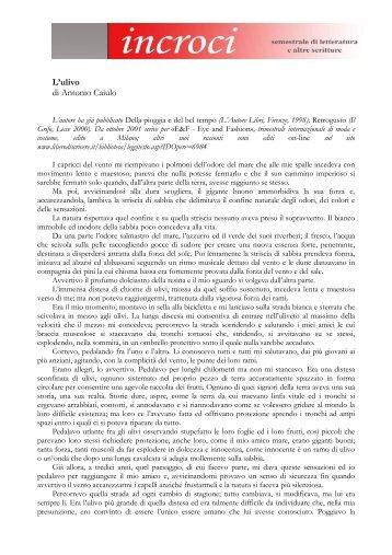 L'ulivo di Antonio Caiulo - Adda Editore