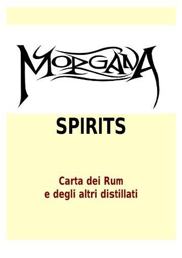 La nostra carta dei distillati... - Birreria Morgana
