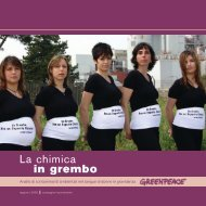 La chimica in grembo - Analisi di contaminanti ... - Greenpeace