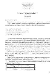 Perifrasi verbali in siciliano - Atlante Sintattico dell'Italia Settentrionale