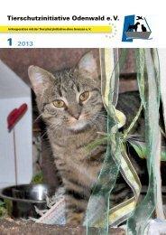 Tierschutzinitiative Odenwald e. V. 2013