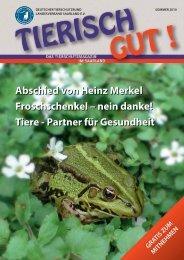 Abschied von Heinz Merkel Froschschenkel – nein danke! Tiere ...