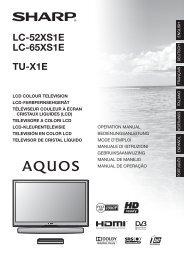 LC-52/65XS1E/TU-X1E Operation-Manual IT - Sharp