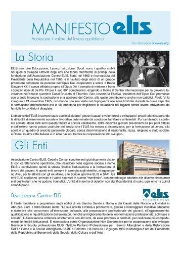 Manifesto ELIS - TECA ELIS